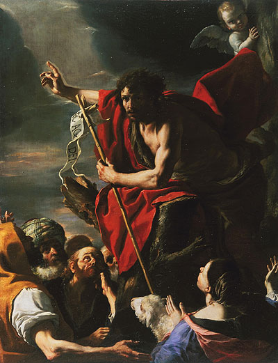 John the Baptist preaching, by Mattia Preti