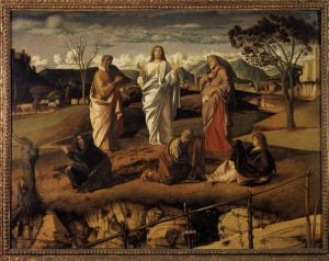 Transfiguration of Christ by Bellini (1480)