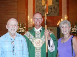 Tom and Joanne Foster (54 Years of Marriage) with Bishop Etienne