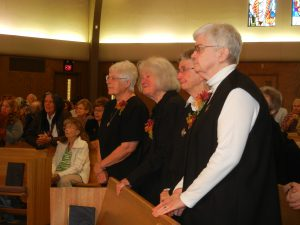 From Left To Right, Benedictine Sisters Hope, Gladys, Josetta and Regina.