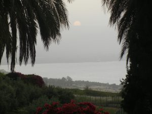 Sunrise over the Sea of Galilee from the Mt. or Beatitudes