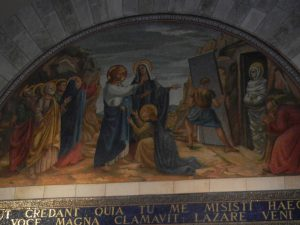 Bethany and miracle of raising Lazarus from the dead