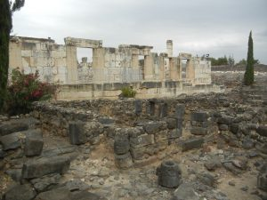 Excavated site of Synagogue in Capernaum