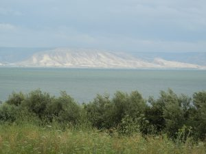 The Sea of Galilee from the NW shore