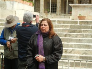 Rula, our guide for the Holy Land