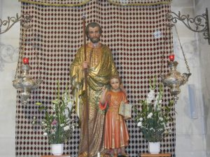 Statue of St. Joseph with the child, Jesus