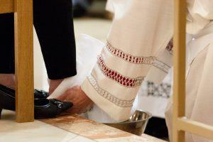 washing feet