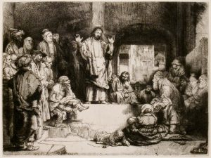 Jesus Teaching; Rembrandt