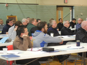 Clergy of the Diocese of Cheyenne during a presentation by Sherry Weddell