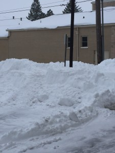 snow mountain in chancery parking lot
