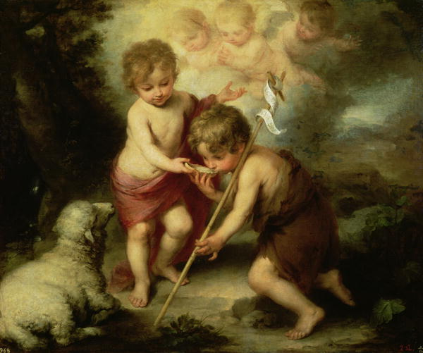 Infants Jesus and John the Baptist, by Murillo