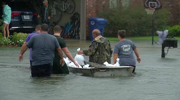 Flooding in Baton Rouge, Louisiana